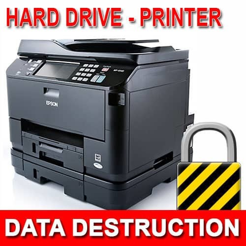 Printer Hard Drive Data Destruction